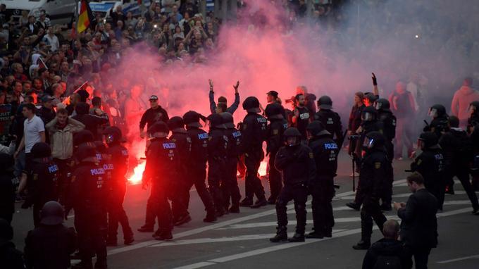 Une forte présence policière encadrait la manifestation.