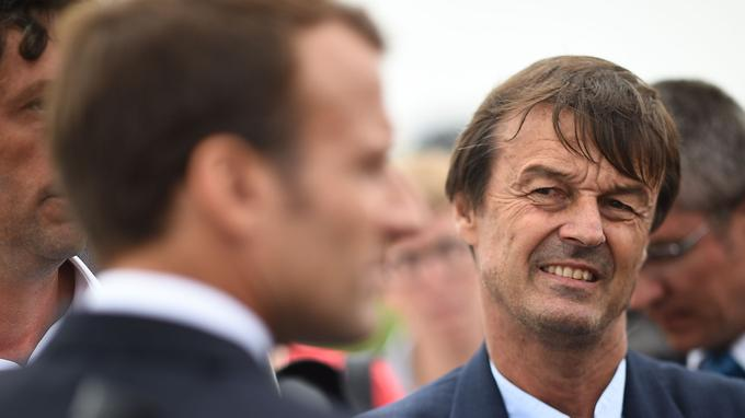 Emmanuel Macron et Nicolas Hulot.
