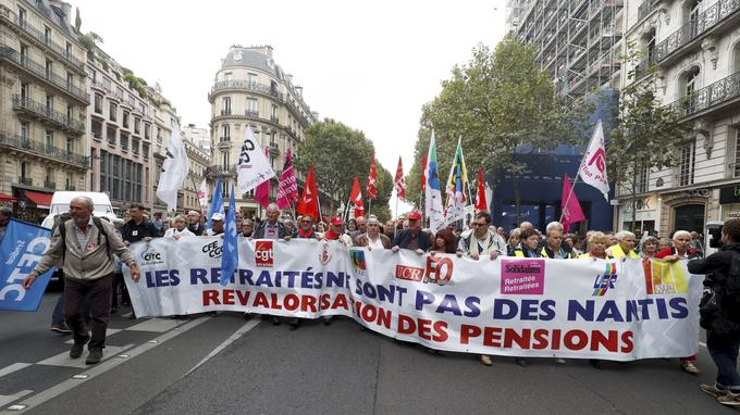 Manifestation de retraités.