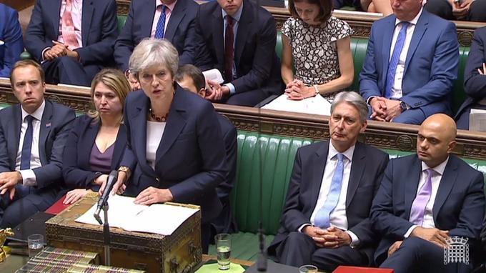 La première ministre britannique Theresa May a évoqué la responsabilité de Moscou devant le Parlement britannique, mercredi.