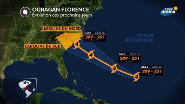 L'ouragan Florence déferle sur la côte est américaine (vidéos)