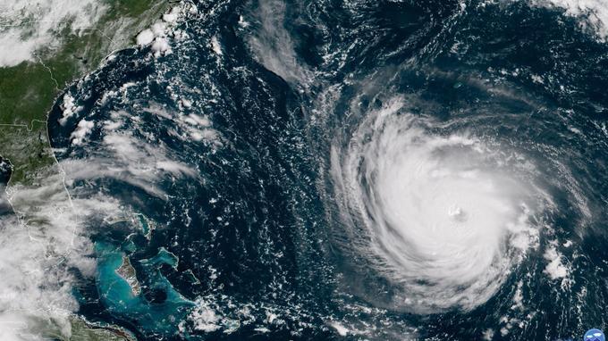 L'ouragan Florence vu depuis l'espace, ce mardi.