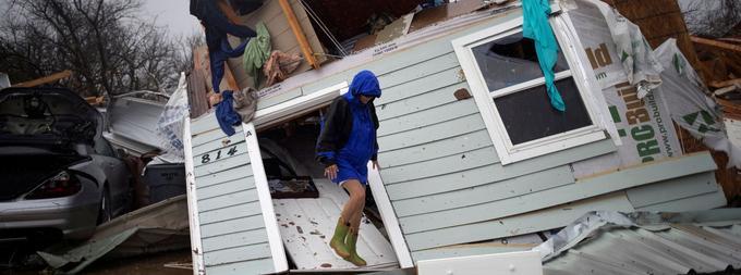 L'ouragan Harvey qui a provoqué des précipitations de 1,27 mètre d'eau au Texas.