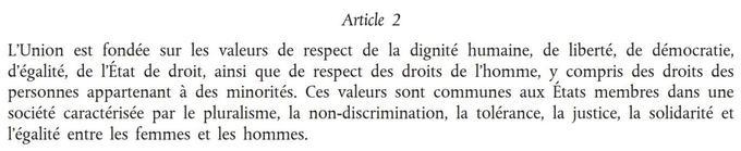 L'article2 du Traité européen.