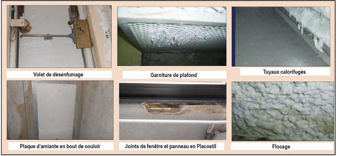Des traces d'amiante au tribunal de Créteil (certains endroits ont été recouverts depuis).
