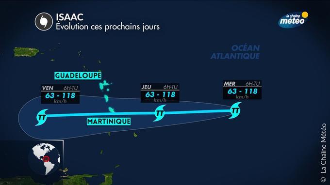 Selon La Chaîne Météo, «le futur ouragan Isaac pourrait perdre de sa puissance en approchant les terres».