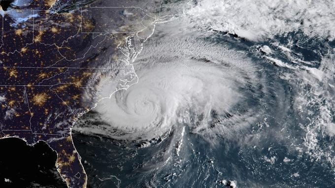 L'ouragan Florence vu depuis l'espace, ce jeudi.