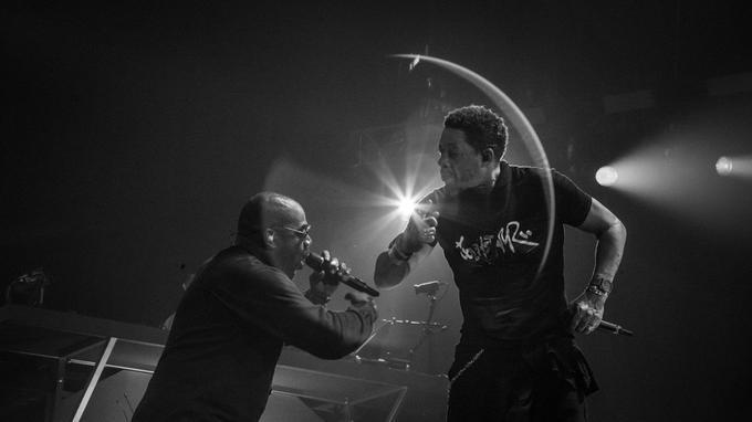 Lord Kossity et JoeyStarr sur scène en 2018.