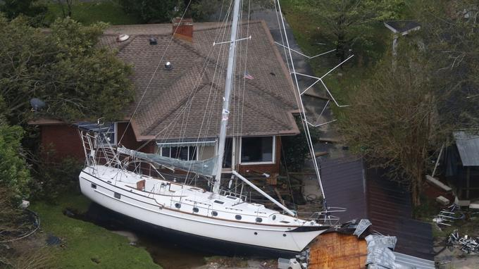 A New Bern en Caroline du Nord, les dégâts sont considérables.
