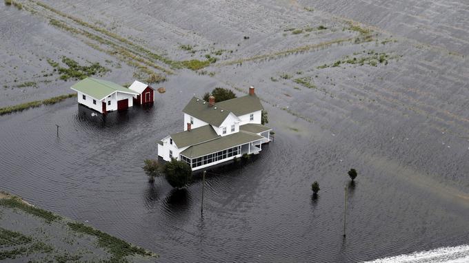 Hyde County en Caroline du Nord est sous les eaux.
