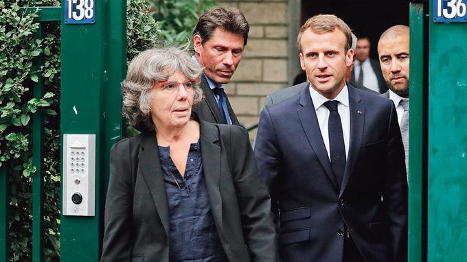 Emmanuel Macron et Michèle Audin, la fille du couple.