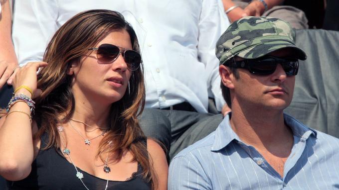 Alexandra Pastor et David Hallyday à Roland-Garros, en 2007.