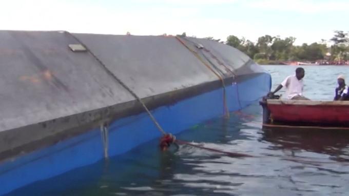 Une image de l'embarcation qui a chaviré jeudi.