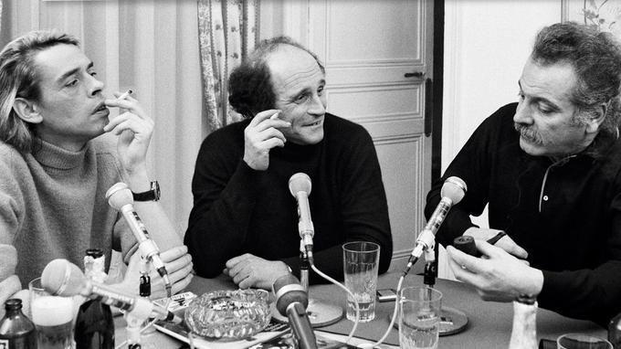 Jacques Brel, Léo Ferré et Georges Brassens, les trois poètes de la chanson française réunie en 1969 par le magazine «Rock & Folk».