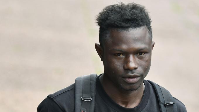 Mamoudou Gassama le 29 mai 2018, trois jours après son exploit rue Marx-Dormoy