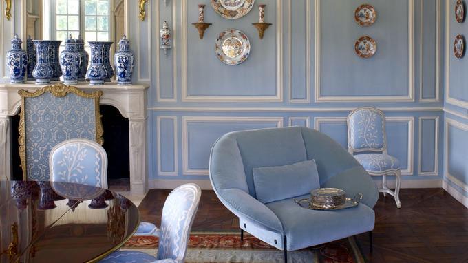 Fauteuil Paipaï, en velours, design LucidiPevere, Cinna.