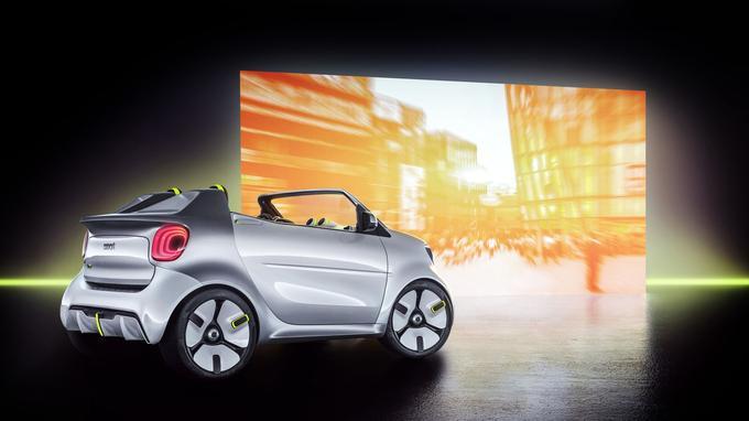 Le Show Car Forease dispose d'une motorisation 100 % électrique conformément à la nouvelle stratégie de Smart.