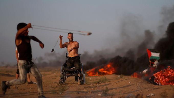 Vendredi à la frontière entre la bande de Gaza et Israël.