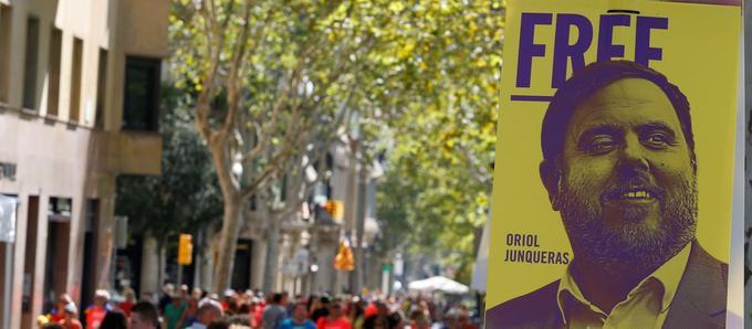 En prison, Oriol Junqueras conserve une large popularité auprès de l'électorat catalan.