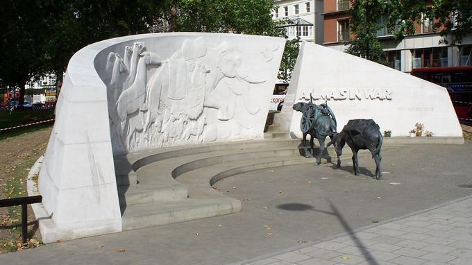 Le mémorial des animaux à Londres, le 1er octobre 2007.
