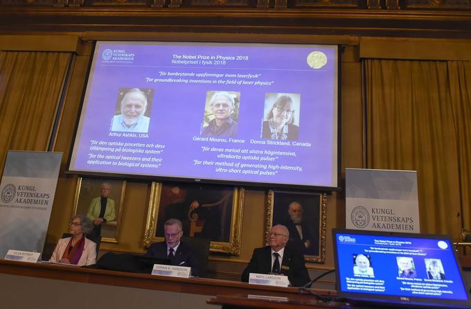 Les lauréats du Nobel de physique 2018 ont été annoncés mardi matin.