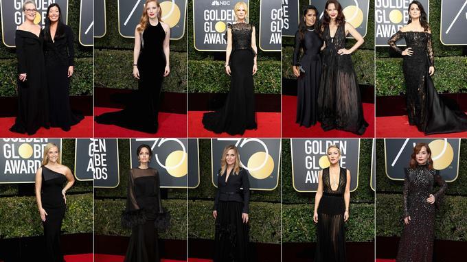De nombreuses actrices ont porté du noir aux Golden Globes le 7 janvier 2018 en soutien au projet Time's Up.