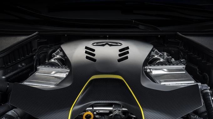 Le V6 biturbo de 3 litres de cylindrée à double hybridation développe 571 chevaux.
