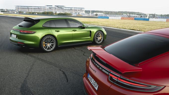 La version GTS est disponible avec les deux types de carrosserie proposés par la Panamera.