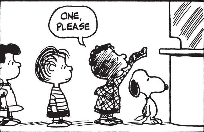 Deux ans après «Black Panther», Franklin apparaissait dans les Peanuts. «Snoopy», Schultz © United Feature Syndicate Inc.