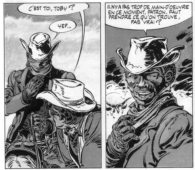 L'apparition de Toby dans «Comanche». Crédits: «Comanche», Hermann et Greg © Le Lombard