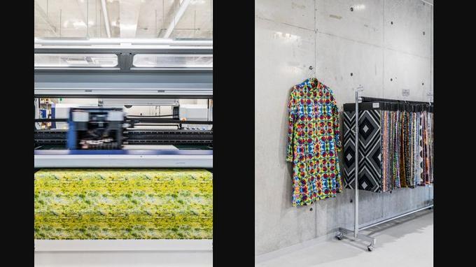 KALEIDOSCOPIC - Filiale d'une maison ancestrale fournissant les fabricants de kimonos, cette fabrique menée par Hokuto Yamamura se place <br/>à l'avant-garde de l'impression sur tissu <br/>par jet d'encre, proposant des motifs <br/>d'une riche variété.