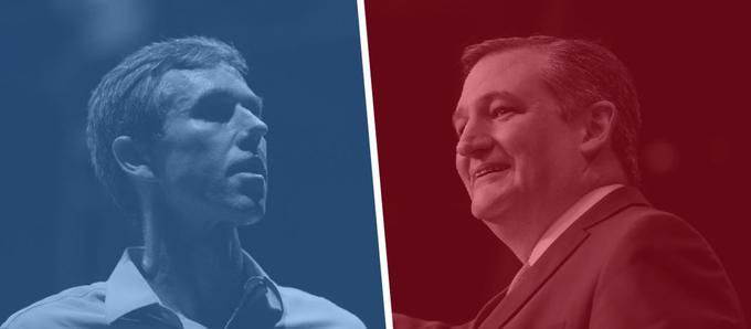 <i>Beto O'Rourke (D) vs. Ted Cruz (R)</i>