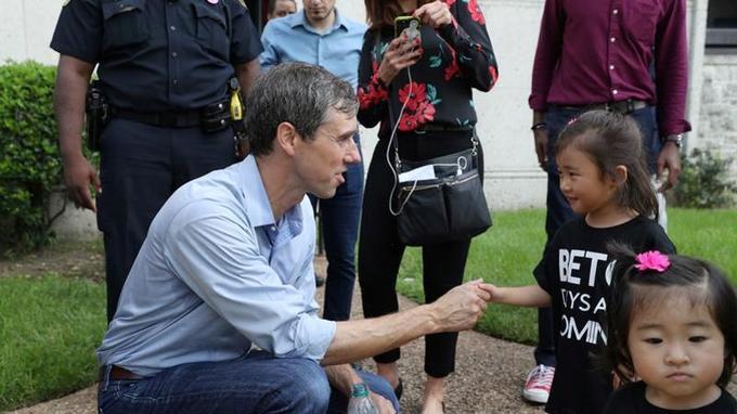 Beto O'Rourke, candidat démocrate, combat Ted Cruz au Texas.