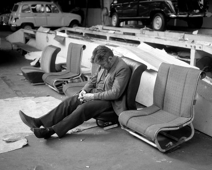 Grève à l'usine Renault de Boulogne-Billancourt le 19 mai 1968.