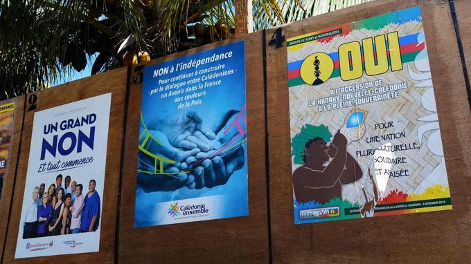 Des affiches de campagne à Nouméa