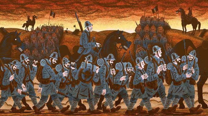 Le ciel est en feu. Mais, au cœur de l'enfer, «Tinte-Caboche sauve la vie d'Étienne à plusieurs reprises».