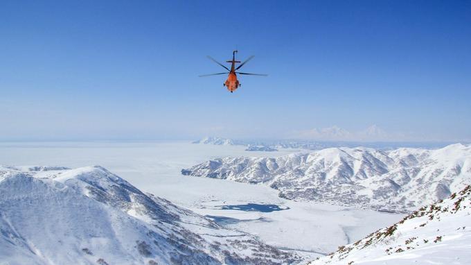 L'hélicoptère permet d'accéder aux meilleurs spots et d'apprécier toute la majesté du Kamtchatka.