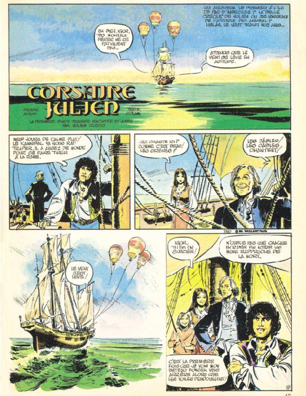 «Corsaire Julien», série annoncée comme «la première bande dessinée racontée et jouée par Julien Clerc».