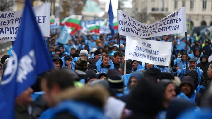 Manifestation à Sofia, le 29 novembre.