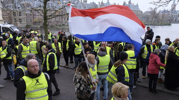 Manifestation de «gilets jaunes» à La Haye le 29 novembre.