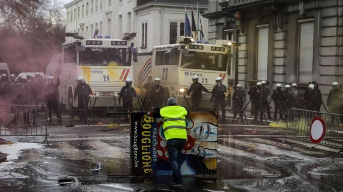 Manifestation des «gilets jaunes» à Bruxelles le 29 novembre.
