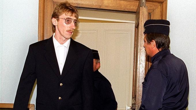 Patrick Dils, en 2001, lors de son second procès.