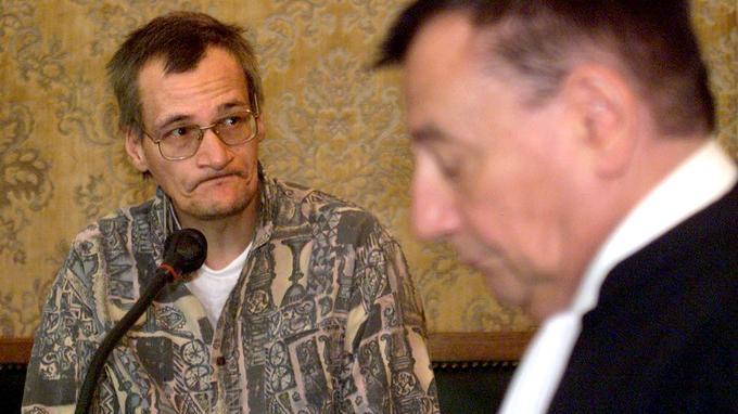 Francis Heaulme en 1999, lors du procès sur le meurtre de Jean Rémy, tué en 1992 à Boulogne-sur-Mer.