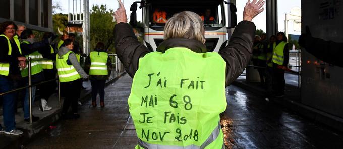 Lors d'une manifestation sur l'autoroute A50, à La Ciotat (Bouches-du-Rhône).