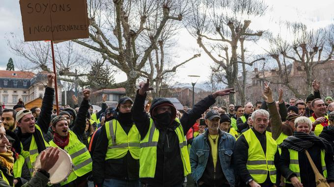 La manifestation s'est déroulée dans le calme pendant la journée au Puy-en-Velay.