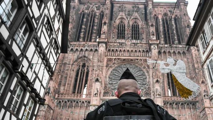 Les forces de sécurité sont déployées en nombre à Strasbourg.