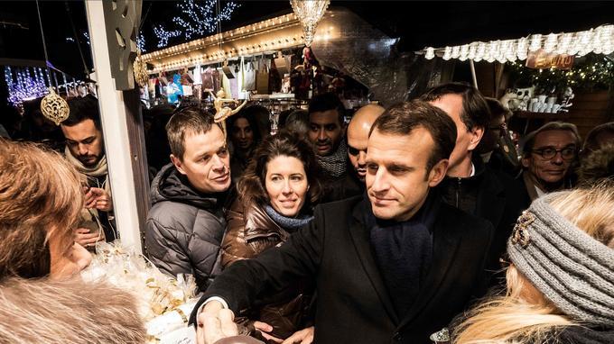 Emmanuel Macron à Strasbourg, le 14décembre.