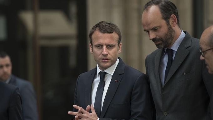 Emmanuel Macron et Édouard Philippe.