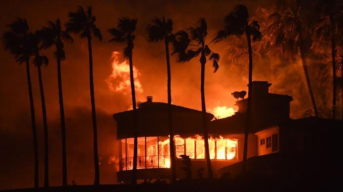 Une habitation brûlée par le «Woolsey Fire» à Malibu.