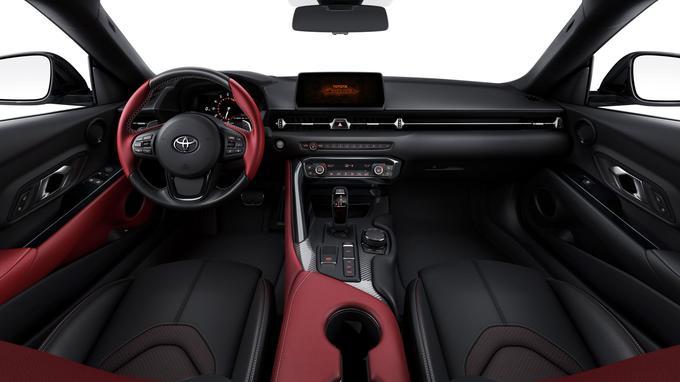 L'habitacle du coupé Toyota Supra hérite de certains éléments du roadster BMW Z4.